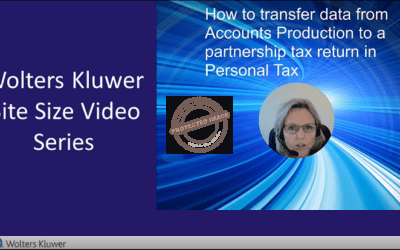 How to transfer data from Accounts Production to a partnership tax return in Personal Tax