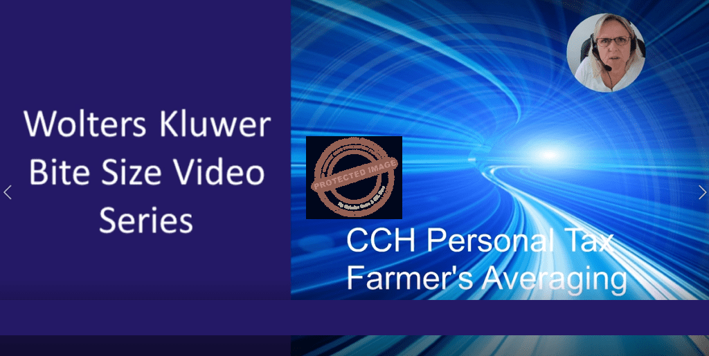 CCH Personal Tax : Farmers Averaging