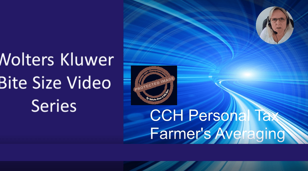 CCH Personal Tax – Farmers Averaging