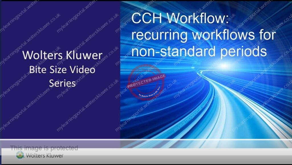 CCH Workflow: Recurring workflows for non-standard periods