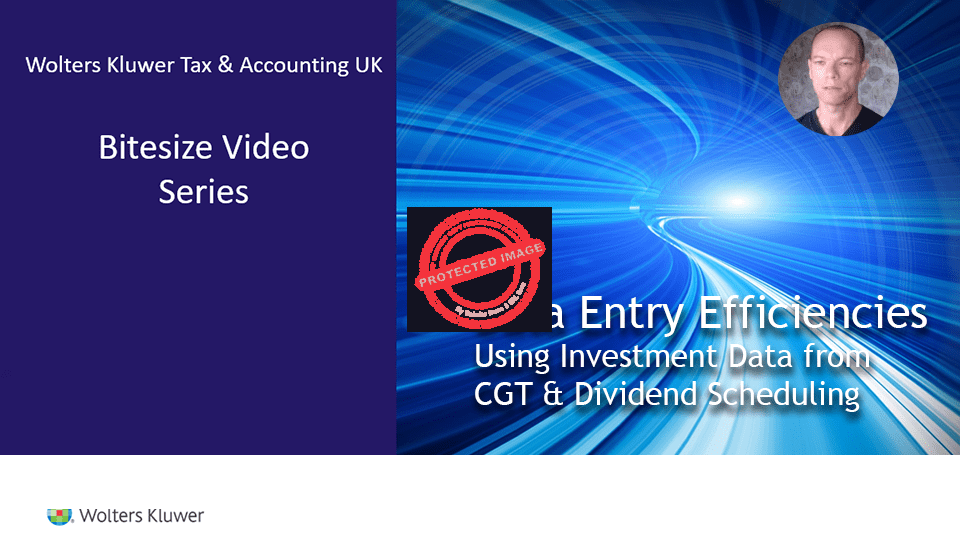 CGT & Dividend Scheduling: Link to the tax return