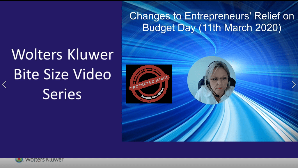 Changes to Entrepreneurs Relief on Budget Day 11th March 2020