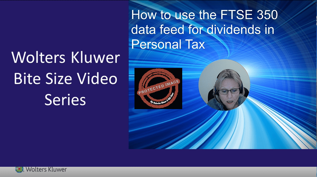 How to use the FTSE 350 data feed for dividends in Personal Tax