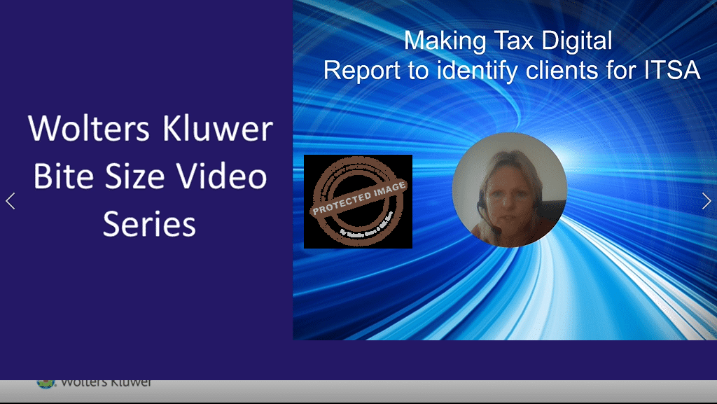 Making Tax Digital Report to identify clients for ITSA