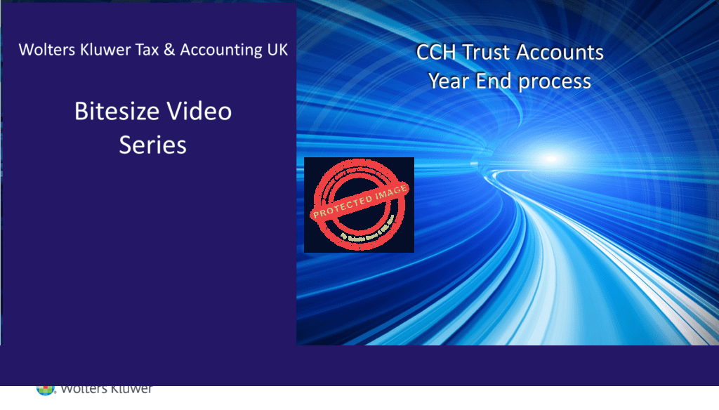 CCH Trust Accounts – Year End process