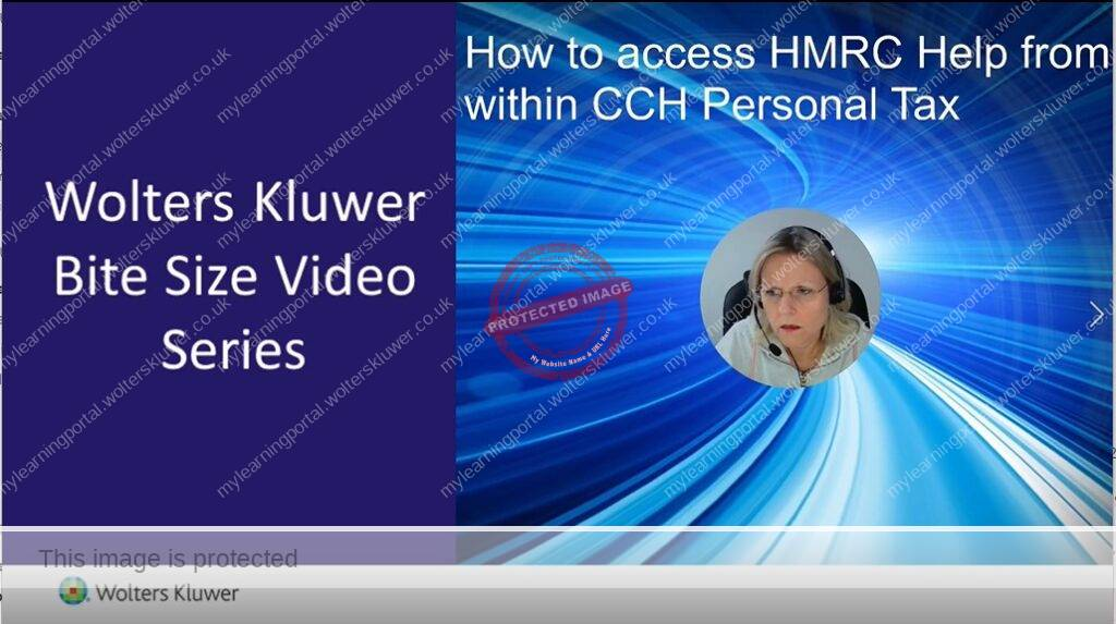 How to access HMRC Help from within CCH Personal Tax